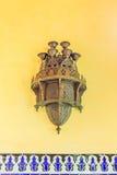 用于装饰大厦的传统阿拉伯灯 图库摄影