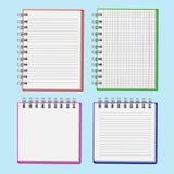 用于装饰网站的重要纪录的笔记本,岗位 免版税库存照片