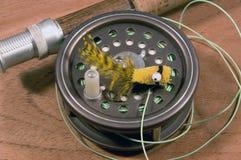 用假蝇钓鱼VIII 库存图片