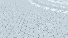 用六角形做的浮动表面 圈准备好动画 股票录像