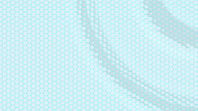 用六角形做的浮动表面 圈准备好动画 影视素材