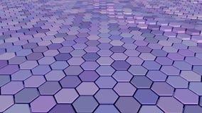 用六角形做的浮动表面 圈准备好动画 股票视频