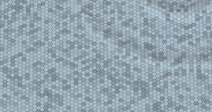用六角形做的浮动表面 皇族释放例证