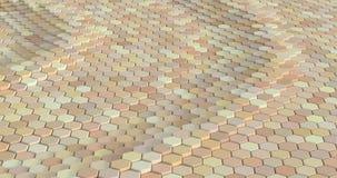 用六角形做的浮动表面 库存例证