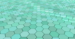 用六角形做的浮动表面 向量例证