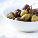 用卤汁泡的橄榄 免版税图库摄影