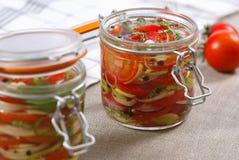 用卤汁泡的蔬菜 库存图片