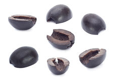 用卤汁泡的黑橄榄 图库摄影