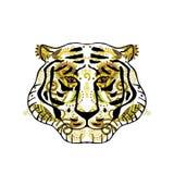 用印地安装饰品装饰的老虎头 向量例证