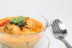 用咖哩粉调制与笋的鸡,泰国食物 库存照片