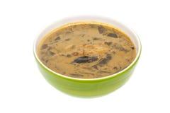 用咖哩粉调制辣vegelable,并且鱼烤用椰奶 免版税库存照片