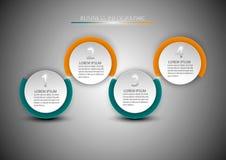 用图解法表示与4个步、选择、部分或者过程 库存图片