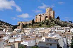 用增白剂擦城堡城镇velez 图库摄影