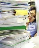 用尽的办公室临时帮助 免版税库存图片
