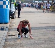 用尽的赛跑者 图库摄影