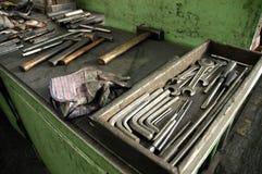 用工具加工工作台 库存图片