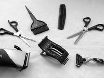 用工具加工必要美发师的 库存图片