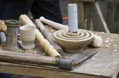 用工具加工木头工作 库存图片