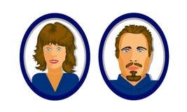 用户两个象站点或社会网络的 蓝色口气 图库摄影