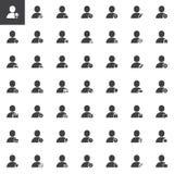 用户帐号行动被设置的传染媒介象 图库摄影