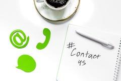 用户支持有联络的公司办公室我们文本和标志t 库存照片