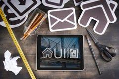 用户界面设计项目 免版税库存照片