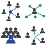 用户连接平的象 向量例证