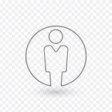 用户,线性象 在透明背景隔绝的传染媒介例证 向量例证