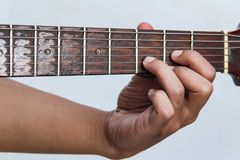 用手播放吉他版本10 库存照片