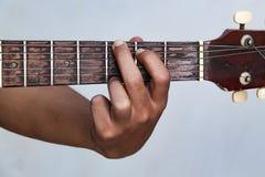 用手播放吉他版本12 免版税库存照片