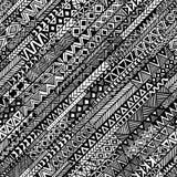 用手被绘的对角无缝的几何背景 免版税库存图片