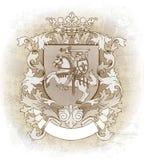 用手被画的徽章 免版税库存照片
