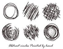 用手被绘的抽象圈子 免版税库存图片