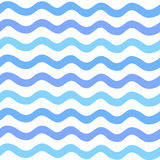 用手被绘的抽象无缝的波动图式 免版税库存照片