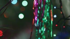用新年` s球装饰的圣诞节冷杉木 影视素材