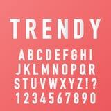 用时髦纸字体传染媒介做的字母表 向量例证