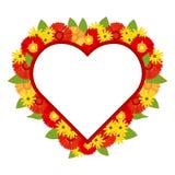 用明亮的颜色装饰的红色心脏 库存例证