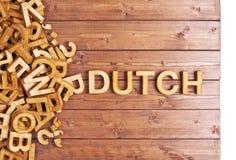 用木信件做的词荷兰语 库存照片