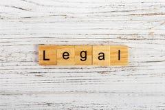用木块概念做的法律词 图库摄影