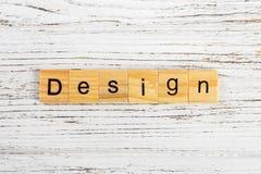 用木块概念做的设计词 免版税图库摄影