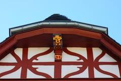 用木材建造的半射线红色 免版税库存照片