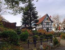 用木材建造的国家(地区)德国半房&# 免版税图库摄影