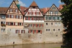 用木材建造的德国半房子swabia 免版税库存照片