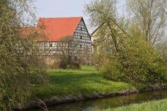 用木材建造的房子 免版税库存照片