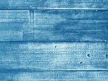 用木材建造木墙壁板条纹理,葡萄酒蓝色背景 库存照片