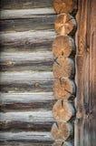 用木材建造的墙壁 库存照片