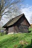 用木材建造的村庄 库存图片