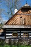 用木材建造的村庄 免版税库存照片