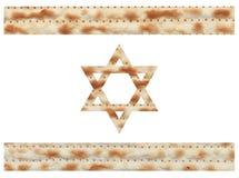 用未发酵的面包纹理做的以色列旗子 向量例证