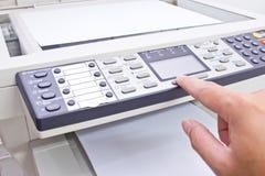 用机器制造影印件 免版税库存图片